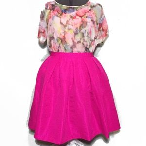 Forever 21 Bright Pink Skater Skirt Plus Size 1X